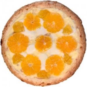 みかんとチーズのピザ