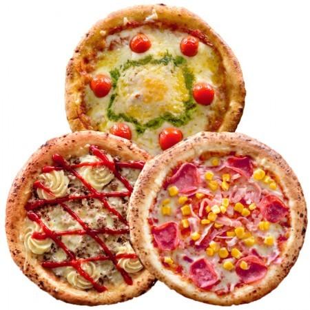 人気の定番ピザ3枚セット